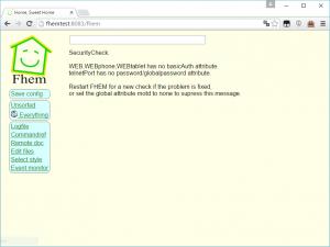 FHEM Webinterface